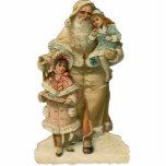 Vintage Santa Clause Sculpture Ornament Photo Cut Outs