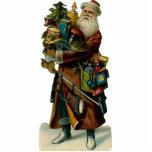 Vintage Santa Clause Sculpture Ornament Photo Sculpture