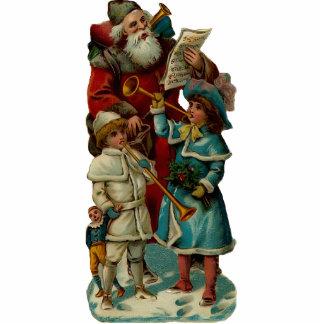 Vintage Santa Clause Sculpture Pin