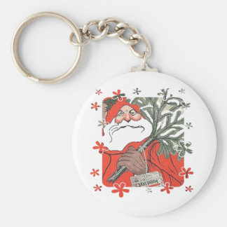 Vıntage Santa Clause With Gifts Keychain