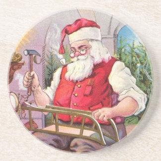 Vintage Santa Drink Coasters