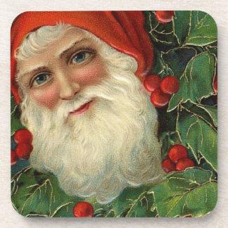 Vintage santa coaster (set)
