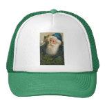 Vintage Santa con el casquillo azul Gorros