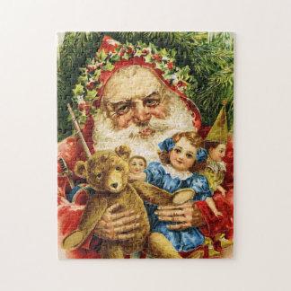 Vintage Santa con el peluche y las muñecas Puzzles Con Fotos