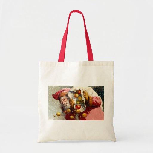 Vintage Santa con el saco de antigüedad de Apple d