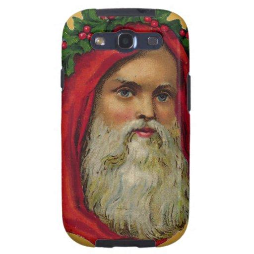 Vintage Santa con la guirnalda Galaxy S3 Cárcasa