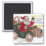Vintage Santa del KRW e imán del navidad del coche