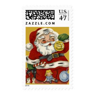 Vintage Santa del KRW y sello del navidad de los