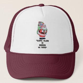 Vintage Santa Dictionary Art Festive Holiday Quote Trucker Hat