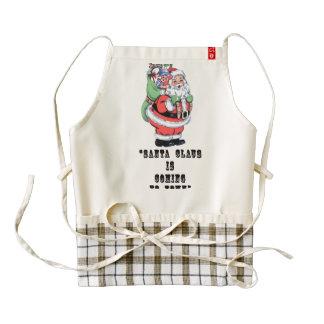 Vintage Santa Dictionary Art Festive Holiday Quote Zazzle HEART Apron
