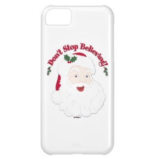 Vintage Santa Don't Stop Believing! iPhone 5C Cover