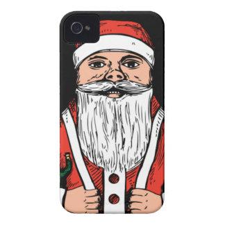 Vintage santa egg iPhone 4 case