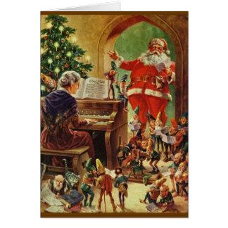 Santa Elves Greeting Cards | Zazzle