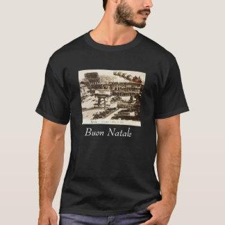 Vintage Santa en camiseta del navidad de Roma