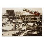 Vintage Santa en tarjeta de Navidad de Roma Italia
