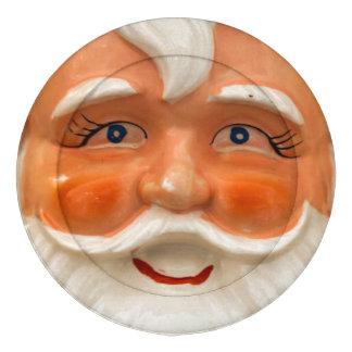 Vintage santa face button covers