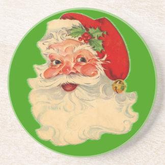 Vintage Santa Face Coasters