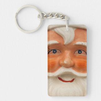 Vintage santa face keychain