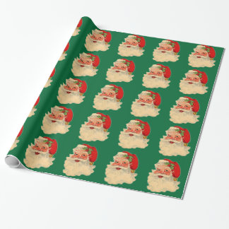 Vintage Santa Face Wrapping Paper