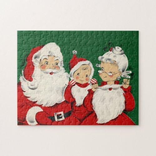 Vintage Santa Family Christmas Jigsaw Puzzle