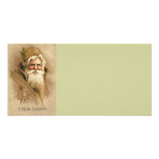 Vintage Santa / Father Christmas Photo Card Template