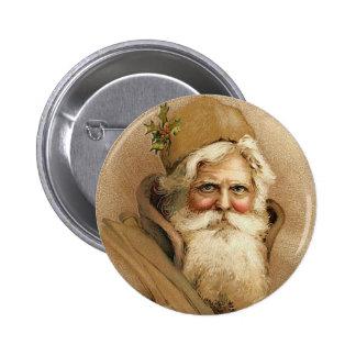 Vintage Santa / Father Christmas Pinback Button