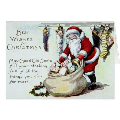 Vintage Santa Felicitacion