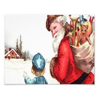 Vintage Santa Fotografía