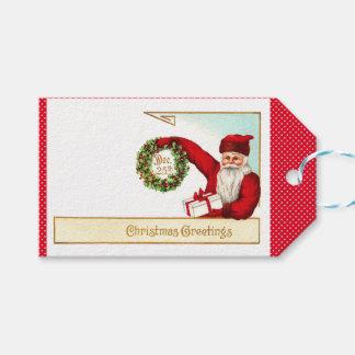 Vintage Santa Gift Tags, Christmas, Holidays Gift Tags