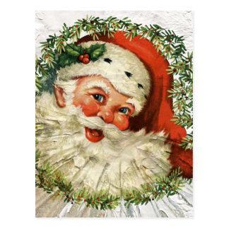 Vintage Santa Grunge Postcard
