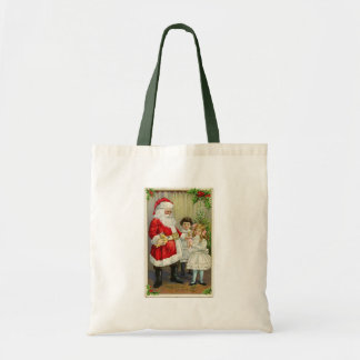 Vintage Santa Handing Out Gifts Canvas Bags