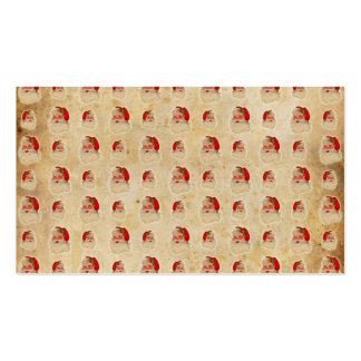 Vintage Santa Head Pattern Double-Sided Standard Business Cards (Pack Of 100)