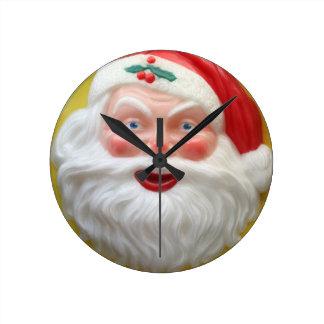 Vintage Santa head Round Clock