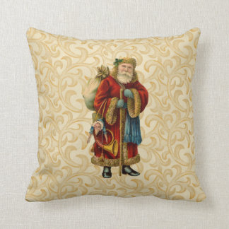Vintage Santa Holding Staff pillow