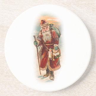 Vintage Santa Holiday Coaster