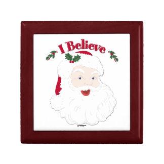 Vintage Santa I Believe Christmas Gift Box