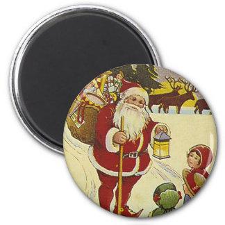 Vintage Santa II Magnets