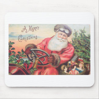 Vintage Santa in his car with the children waiting Mouse Pad