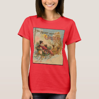 Vintage Santa in his reindeer sleigh T-Shirt