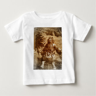 Vintage Santa in Sepia Colonial Style Toile T Shirts