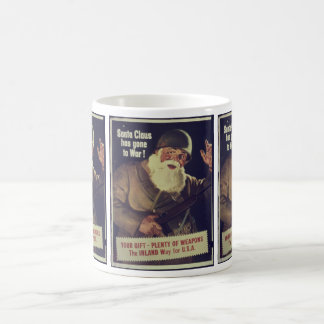 Vintage Santa is Going to War Poster Classic White Coffee Mug
