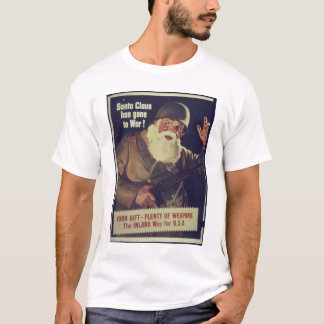 Vintage Santa is Going to War Poster T-Shirt