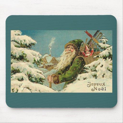 Vintage Santa - Joyeux Noel Mousepad