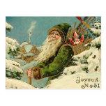 Vintage Santa - Joyeux Noel Postcard