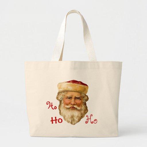 Vintage Santa Jumbo Tote Bag