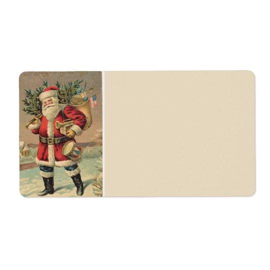 Vintage Santa Label
