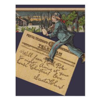 Vintage Santa Letter Postcard
