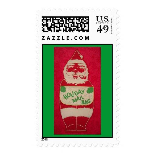 Vintage Santa Mail Bag Postage