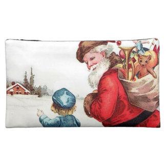 Vintage Santa Makeup Bag