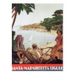 Vintage Santa Margherita Ligure Tarjeta Postal